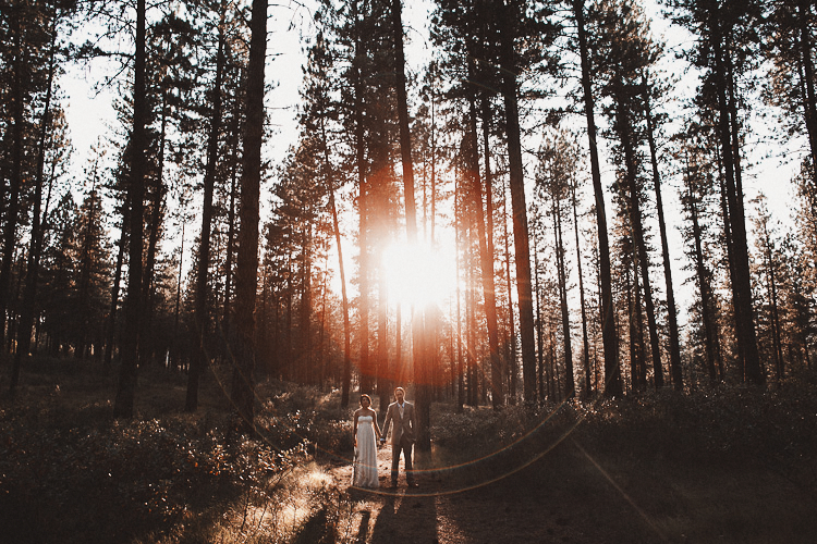 forest sun flare wedding photo 001