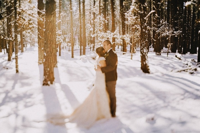 Winter Snow Wedding | Nikki & Josh