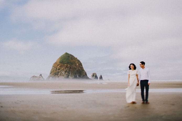 cannon beach oregon wedding photo