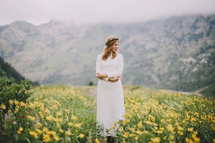 alta wild flower portrait
