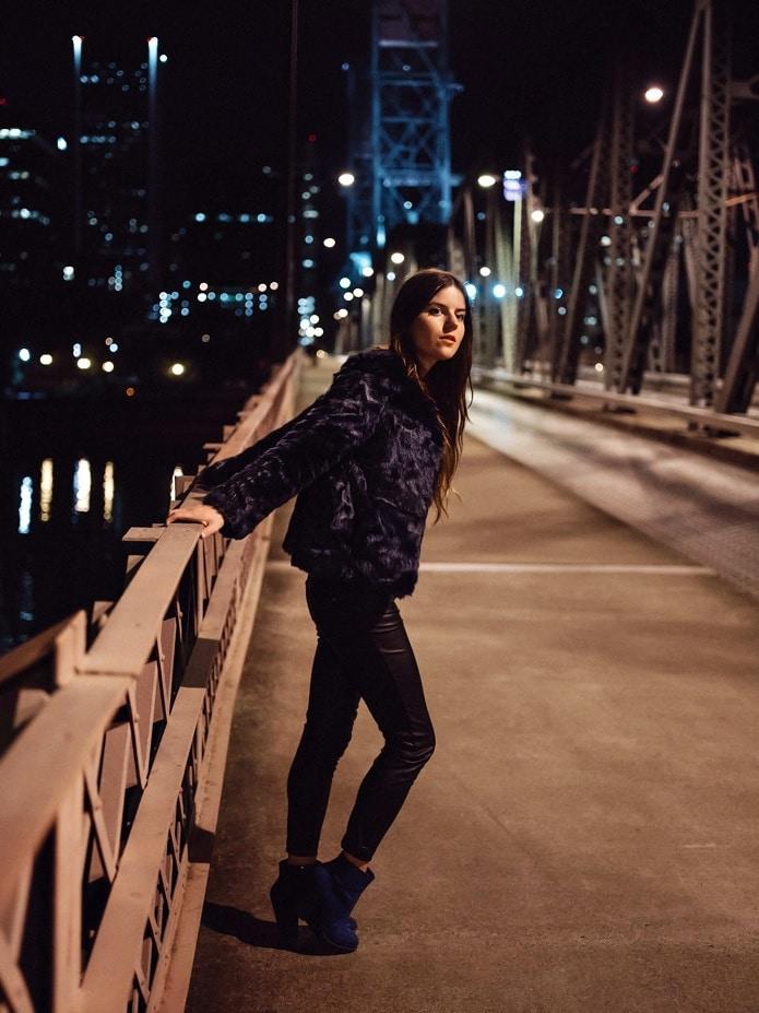burnside bridge night photo