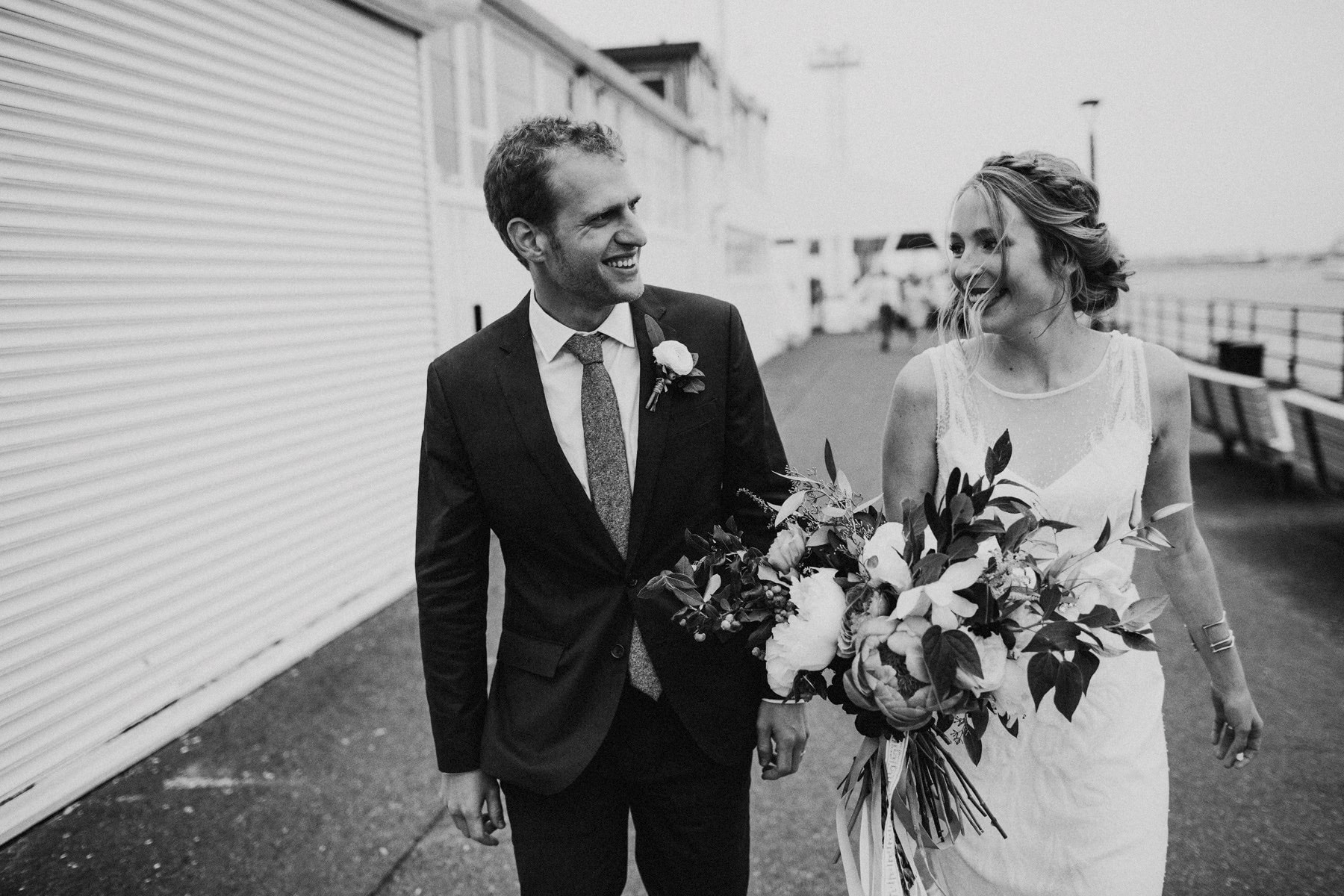 Boston Pier Wedding Photographer | Cambria + Ross