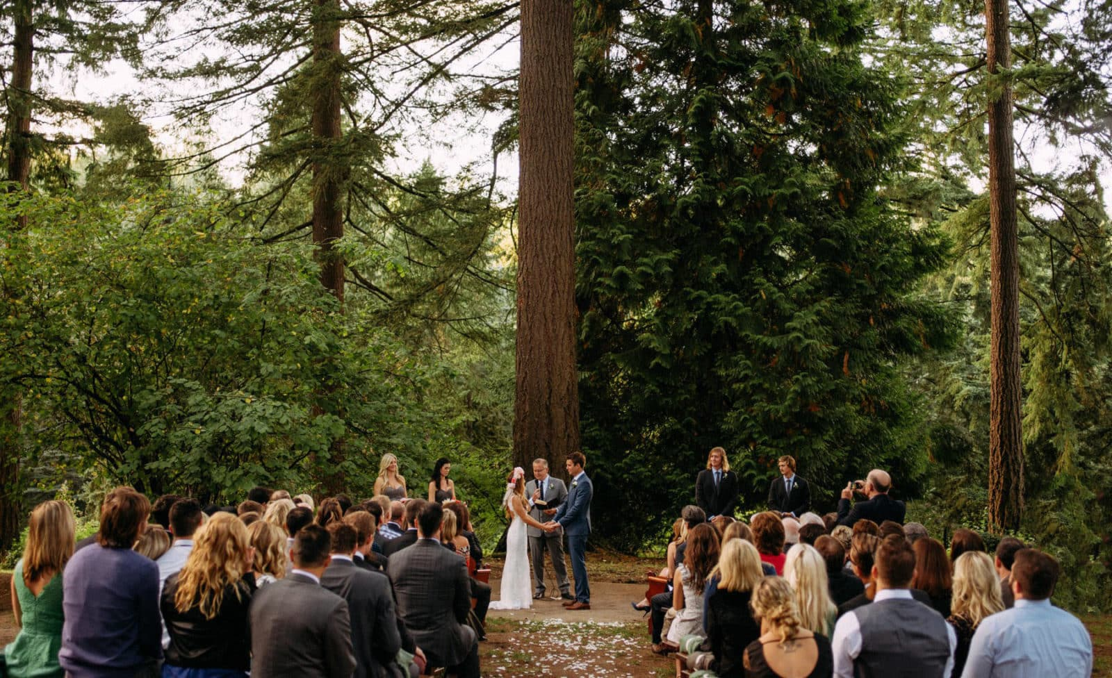 Hoyt Arboretum Portland Oregon wedding photo