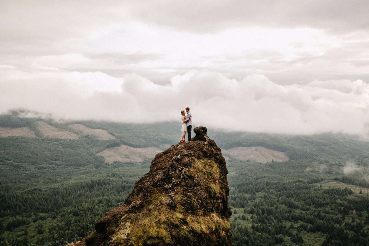 Saddle Mountain Engagement | Cambria + Ross