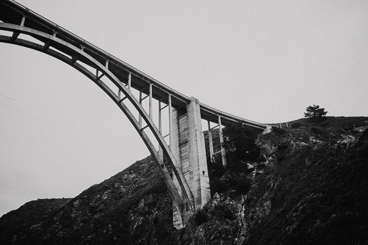 bixby canyon bridge from below