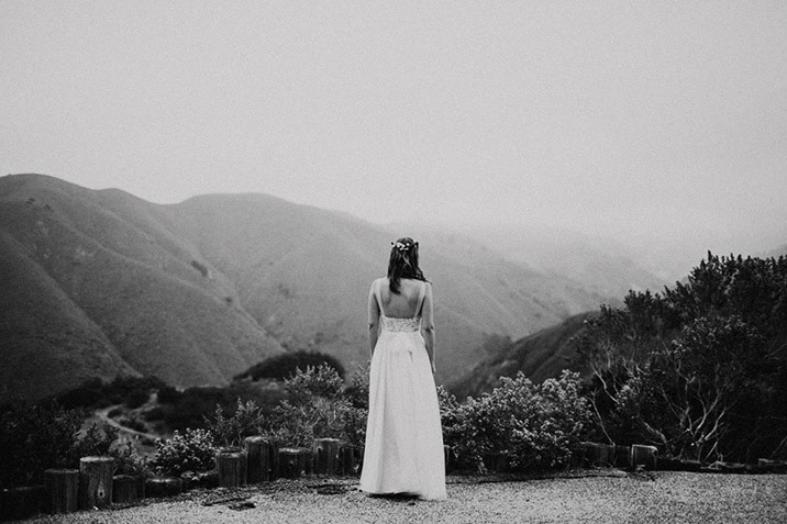 big sur canyon bride