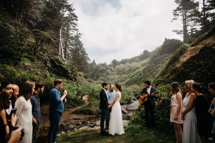 hug point elopement photo