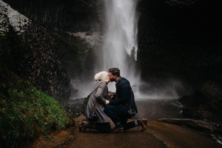 Portland Proposal | Latourell Falls | Caitlin + Thad