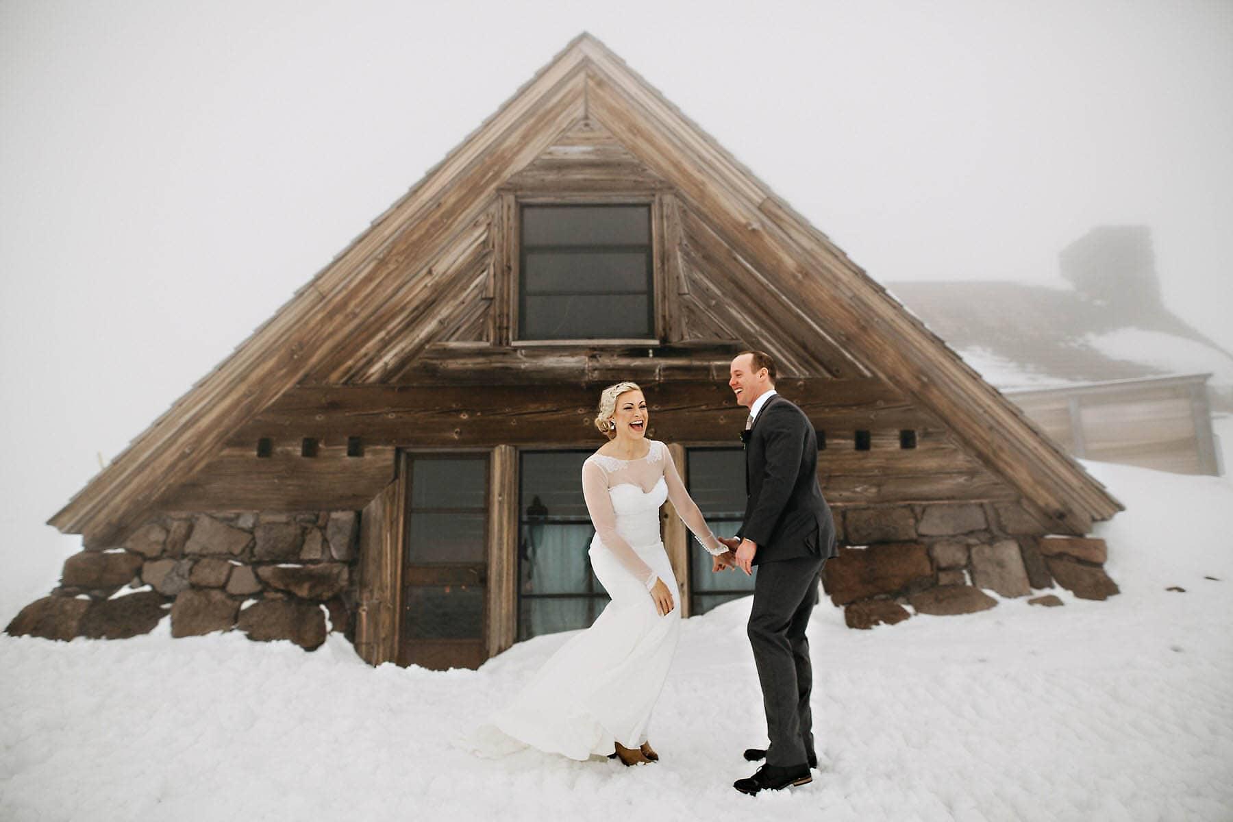 silcox hut timberline lodge mt hood wedding photo