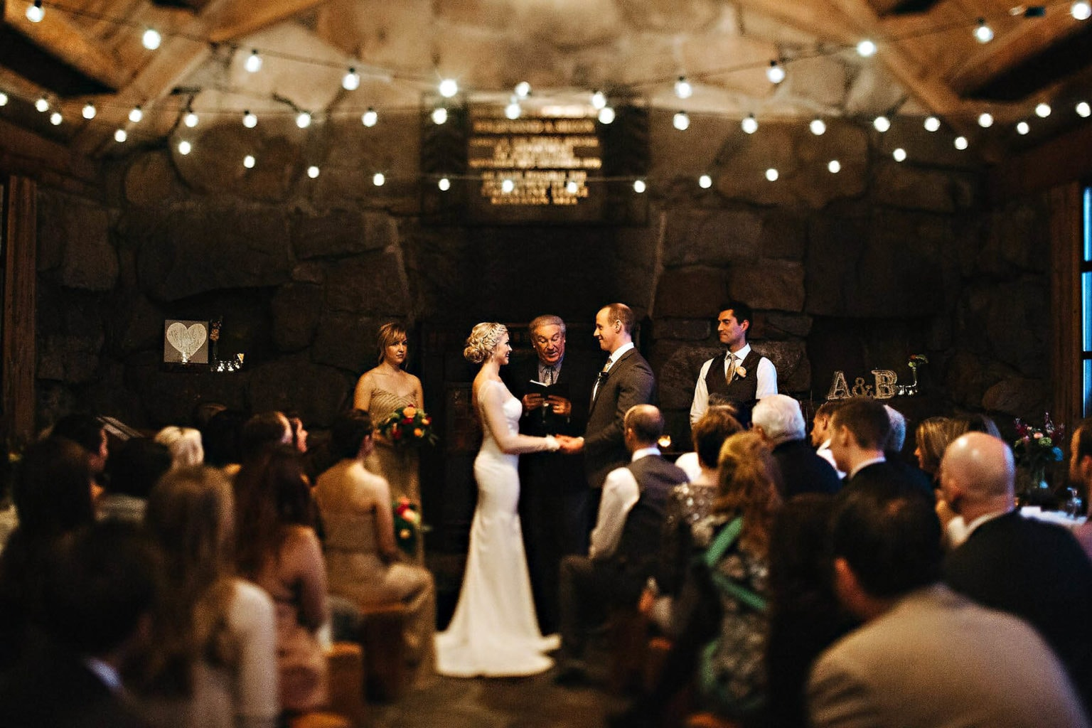 winter wedding silcox hut photo