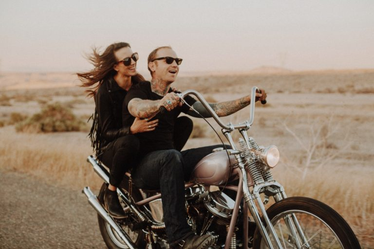 Motorcycle Engagement | Owyhee Desert | Nicole + Weston