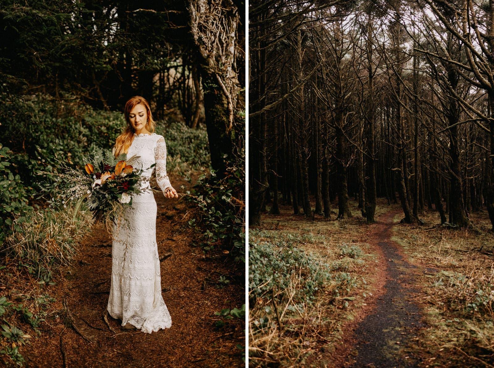 oregon coast forest elopement
