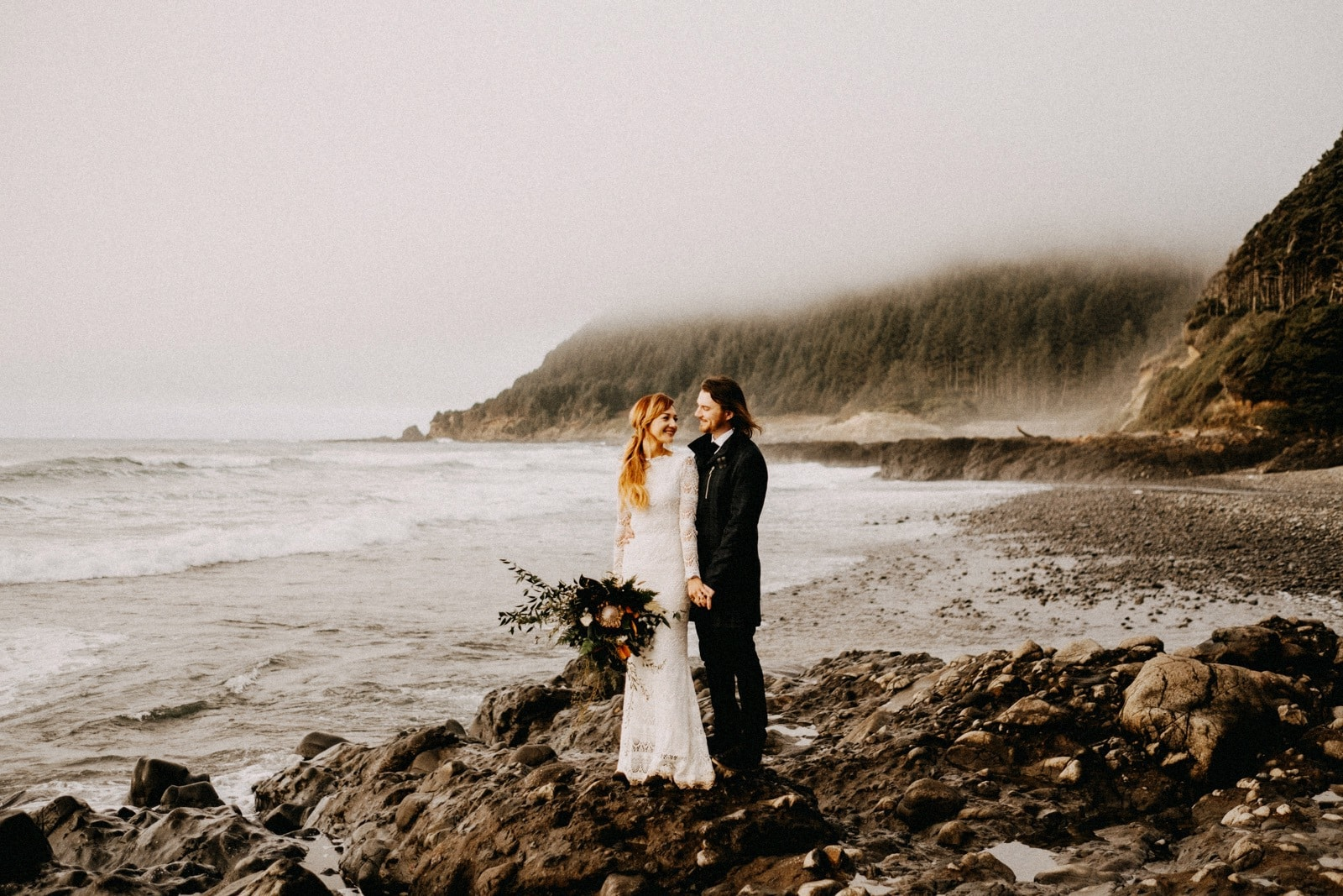 Southern Oregon Coast Elopement | Yachats, OR | Anya + Rev
