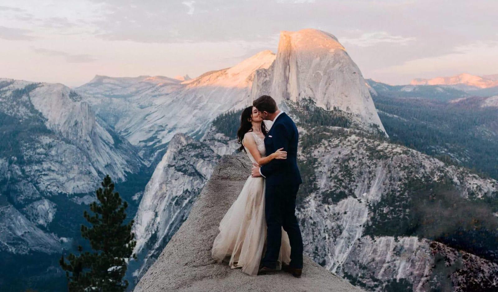 yosemite california glacier point elopement photo
