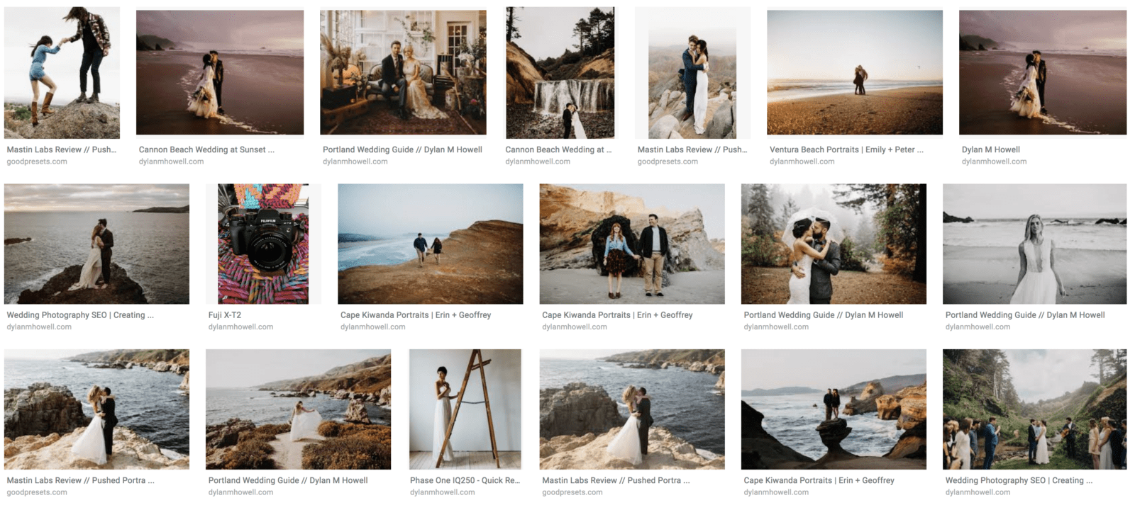 google image search update seo tips for photographers