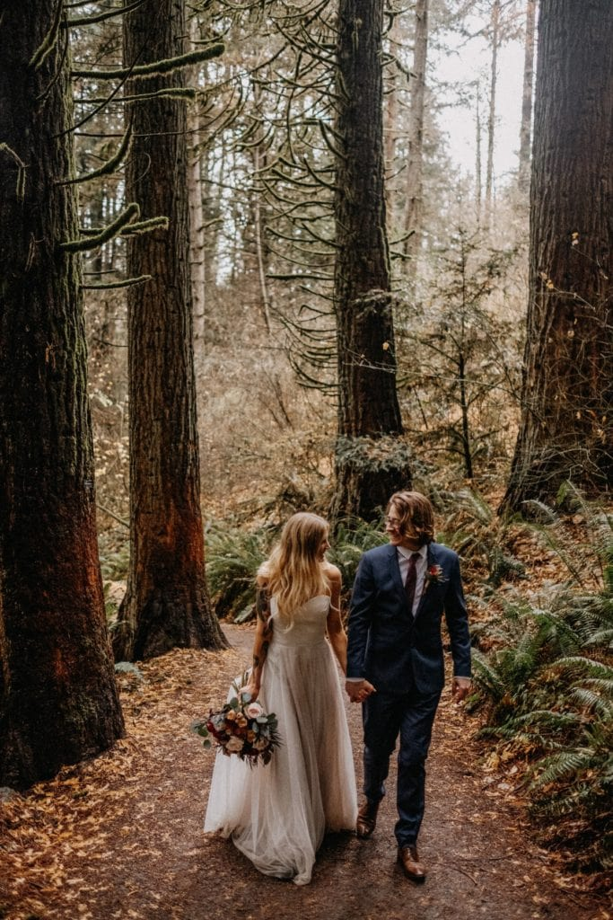 redwood deck elopement portland oregon photo