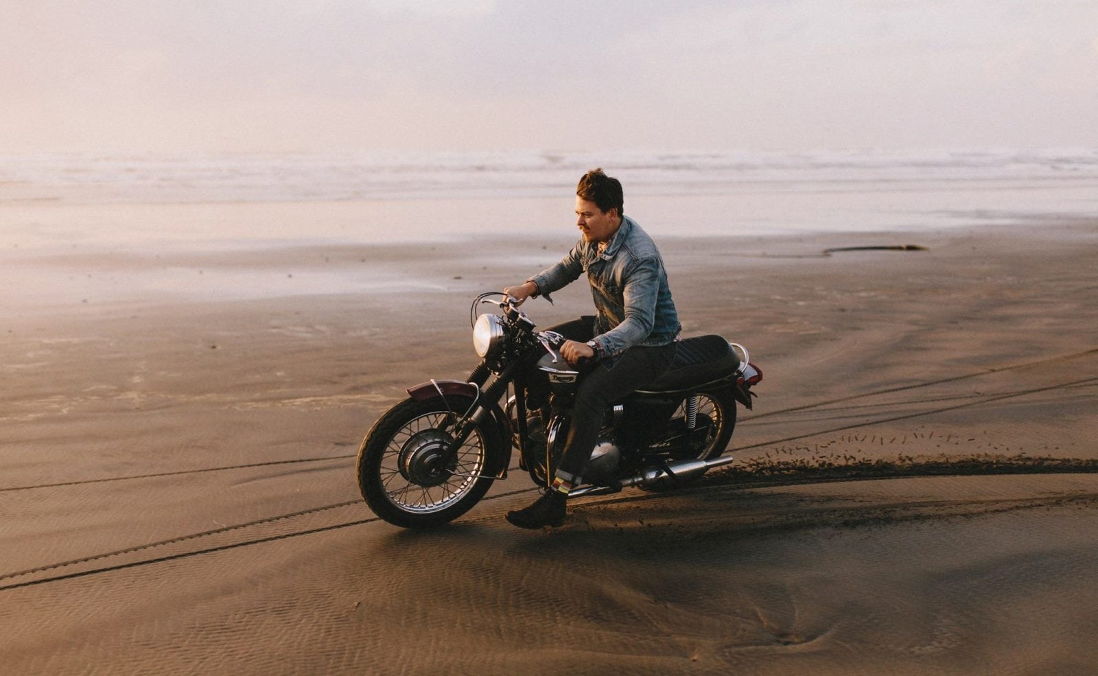 dylan m howell triumph on beach