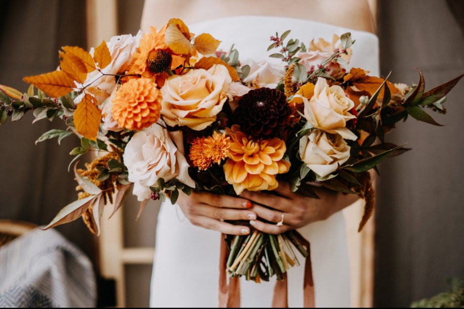 wedding bouquet by good seed floral