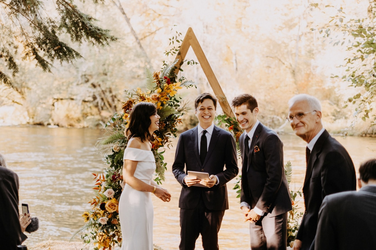 wedding ceremony at loloma lodge