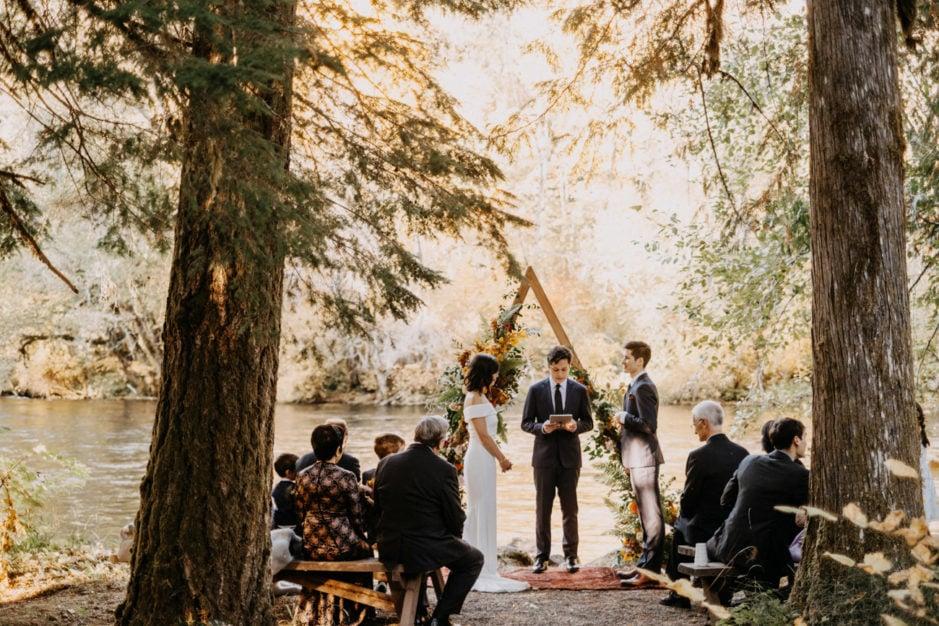 fall wedding at loloma lodge