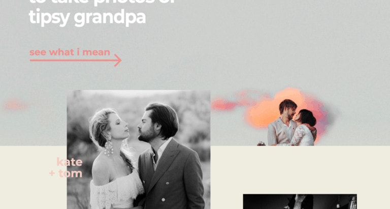 The Best Wedding Photographer Websites (WordPress, Squarespace, Showit)